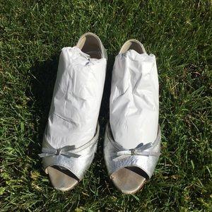 Authentic Prada Open Toe Ballet Flats